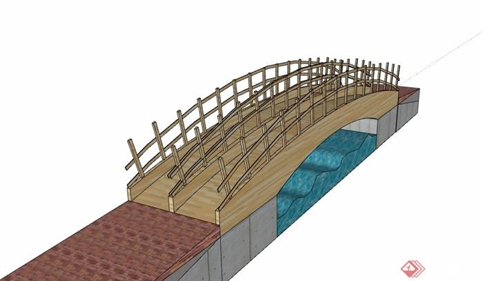 全木质步骤完整的木质园桥模型v木质su经典频数直方图绘制素材图片