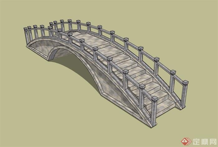 中式详细的教程园桥视频v教程su景观模具设计基本模型ug素材图片