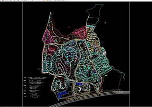 某住宅详细完整的小区规划cad方案