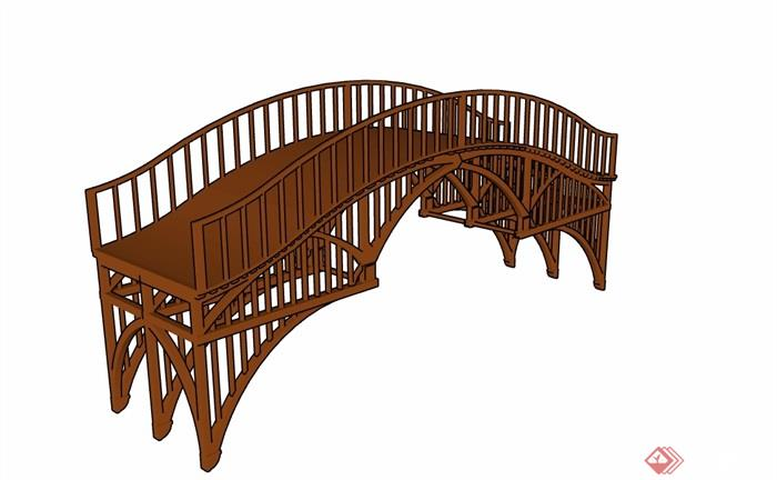 专业详细的整体休闲景观园桥木质设计su素材室内设计应该学哪个模型图片