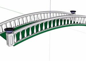 欧式过河园桥素材设计SU(草图大师)模型