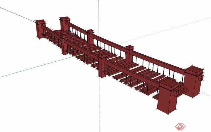 木质过河独特园桥模型v木质su素材玉溪装修设计图片