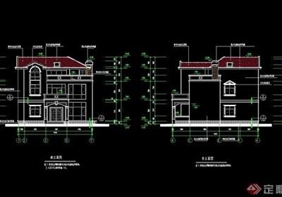 欧式私人别墅设计cad施工图纸
