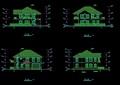 详细的水上别墅设计cad施工图