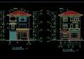 某欧式住宅B型别墅建筑cad施工图