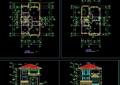 某欧式详细的A型别墅建筑设计cad施工图