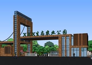 现代创意生态农业园旅游景区入口大门