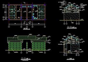 新中式单层公厕建筑设计图纸