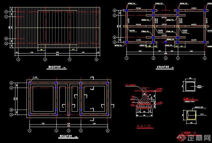 新中式公厕全套建筑设计图纸v公厕厂cad单层图纸下载图片