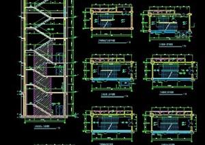 多层建筑楼梯节点图纸素材