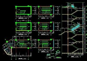 6层建筑楼梯节点图纸