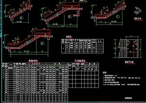 楼梯结构节点及配筋表