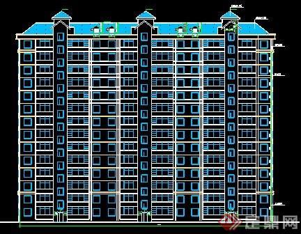剪力墙小高层住宅建筑设计图图片