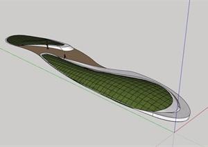 现代独特造型的种植花坛素材设计SU(草图大师)模型