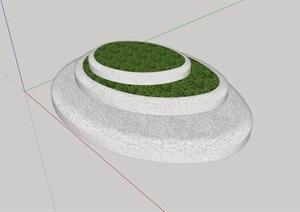 种植花坛设计SU(草图大师)模型