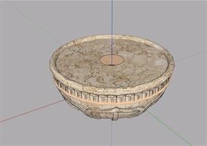 欧式独特景观花钵素材设计SU(草图大师)模型