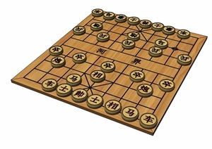 象棋小品素材设计SU(草图大师)模型