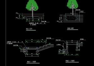 详细的经典树池设计cad施工图