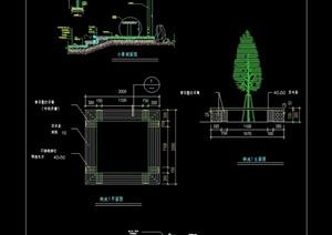 园林景观节点树池设计cad施工图