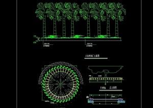 园林景观树池cad施工图