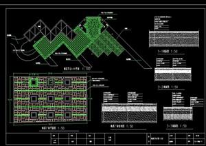 园林景观广场铺装铺地设计cad施工图