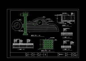 园林景观铺装节点设计cad施工图
