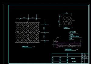 现代停车场铺装设计cad施工图