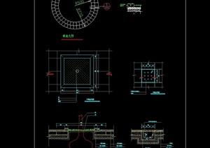 广场树池设计cad施工图