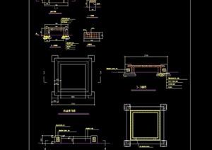 园林景观树池及坐凳素材设计cad施工图