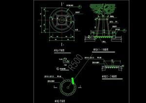 现代详细经典树池设计cad施工图
