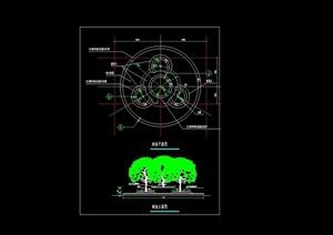 详细的树池设计cad平立面图