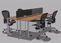 组合式办公桌椅素材su模型