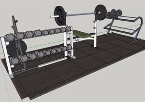 一组健身器材SU(草图大师)模型