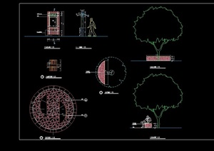小品广告牌素材设计cad施工图