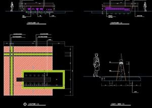园林景观详细的标注素材设计cad施工图