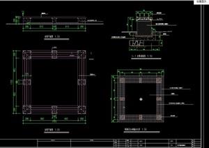 坐凳、树池坐凳详细设计cad施工图