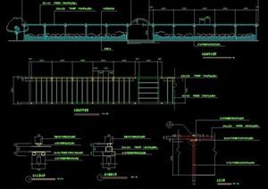 木造长廊架设计图纸