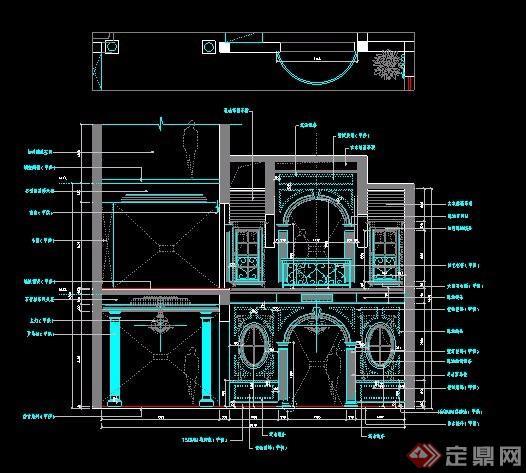 欧式风格别墅装修住宅设计图纸