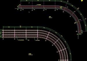曲线廊架设计施工图纸
