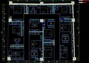 办公楼层办公空间室内设计图纸