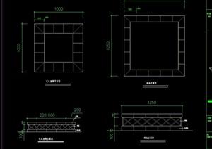 树池及坐凳素材设计cad方案