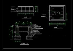 园林景观树池节点素材设计cad施工图