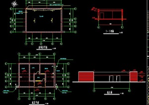 单层管理房及公厕建筑图纸