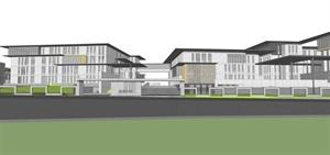 现代风格学校建筑