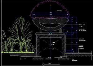 花钵柱剖面节点图