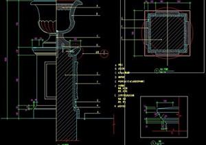 欧式花钵柱设计图纸