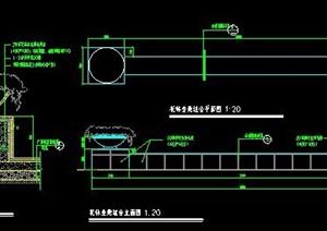 矮墙花钵柱设计图纸