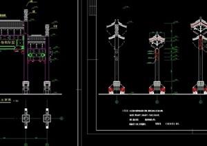 中式牌楼建筑设计cad施工图