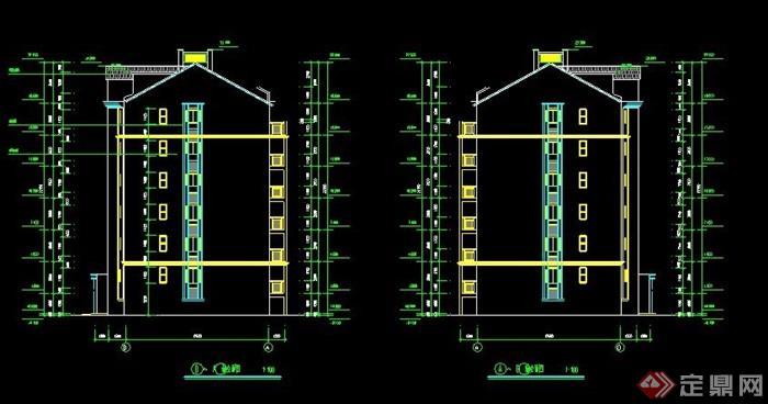 小区六层欧式住宅楼建筑施工图