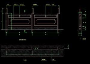 中式详细的围栏栏杆素材cad施工图